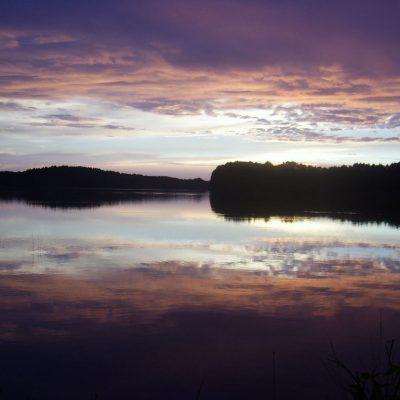 jezioro Chłop po zachodzie Słońca, fot. Damian Lip