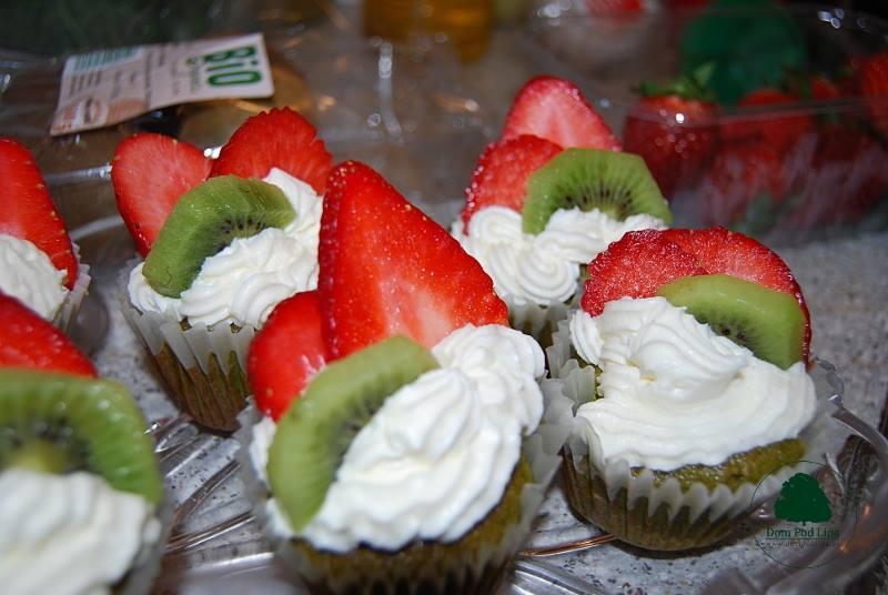 zielone muffinki wiosenne