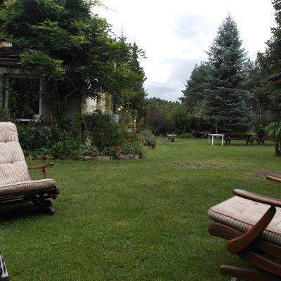 leżaki i ogród