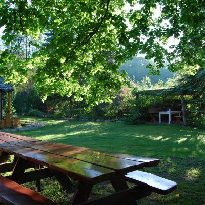 wiosna - stół pod lipą w maju