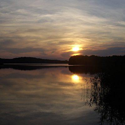 jezioro Chłop zachód Słońca, fot. Damian Lip