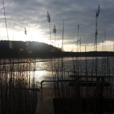jezioro Chłop zimą