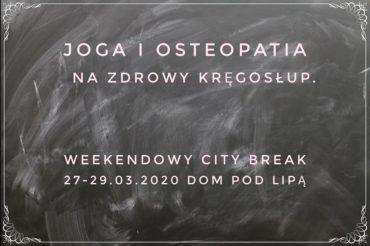 Joga i osteopatia – ODWOŁANE